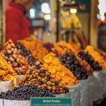 Dried fruits in Persian market