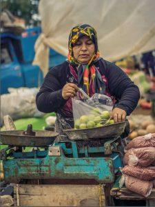A gorgeous, local food outdoor bazaar in Royan, Iran