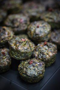 Mini fresh herb frittata