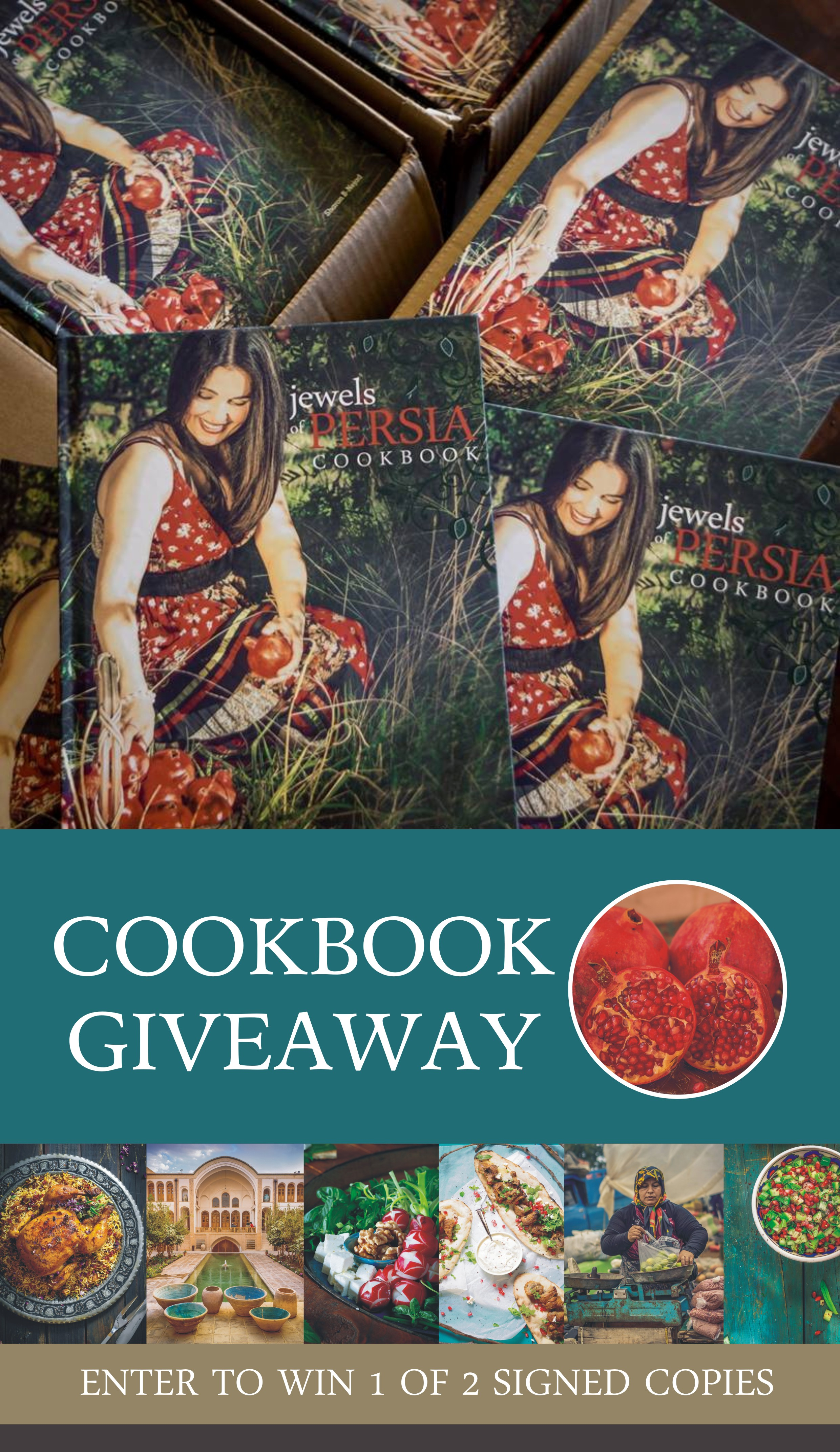 ENTER TO WIN 1 OF 2 SIGNED COOKBOOKS